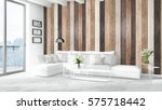modern bright interior . 3d... | Shutterstock . vector #575718442