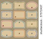 vintage labels set  vector | Shutterstock .eps vector #57572437