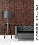 modern bright interior . 3d... | Shutterstock . vector #575727025