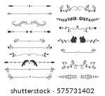 vector dividers calligraphic... | Shutterstock .eps vector #575731402