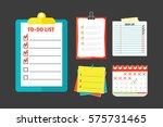 agenda list concept vector... | Shutterstock .eps vector #575731465