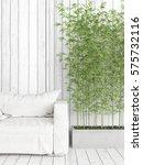 modern bright interior . 3d... | Shutterstock . vector #575732116