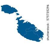 blue map of malta  isolated on... | Shutterstock .eps vector #575735296