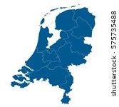 vector map netherland country | Shutterstock .eps vector #575735488