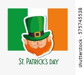 happy saint patricks day card | Shutterstock .eps vector #575745538