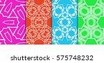 set of geometric seamless... | Shutterstock .eps vector #575748232