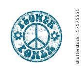 blue grunge rubber stamp with... | Shutterstock .eps vector #57575551