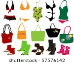 suit for beach | Shutterstock .eps vector #57576142