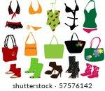 suit for beach | Shutterstock .eps vector #57576142