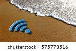 concept for a wireless internet ... | Shutterstock . vector #575773516