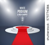 illuminated stage 3d podium... | Shutterstock .eps vector #575774386