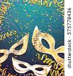realistic carnival mask for... | Shutterstock .eps vector #575778436