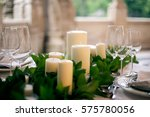 Candles And Goblets On A...