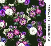floral seamless pattern with... | Shutterstock . vector #575793892