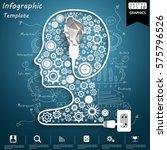 human head business success... | Shutterstock .eps vector #575796526