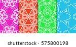 seamless set floral pattern....   Shutterstock .eps vector #575800198
