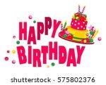 vector illustration birthday... | Shutterstock .eps vector #575802376