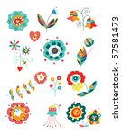 collection of colorful... | Shutterstock .eps vector #57581473