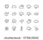 simple set of weather related... | Shutterstock .eps vector #575815042