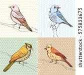 illustration of a bird. hand... | Shutterstock .eps vector #575833675