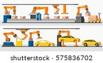 industrial automation robot... | Shutterstock .eps vector #575836702