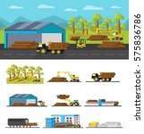industrial wood production...