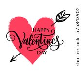 happy valentine's day vector... | Shutterstock .eps vector #575843902