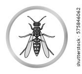 wasp icon in monochrome style... | Shutterstock .eps vector #575846062