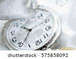 Closeup Of Pocket Watch Under...