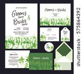 set of templates  for wedding... | Shutterstock .eps vector #575864392