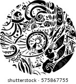 black vector of line art design ... | Shutterstock .eps vector #575867755