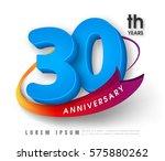 anniversary emblems 30... | Shutterstock .eps vector #575880262