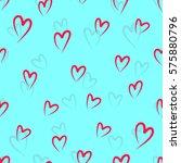 abstract seamless heart pattern....   Shutterstock .eps vector #575880796
