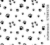 paw print seamless pattern... | Shutterstock .eps vector #575893738