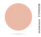 wireframe 3d mesh polygonal... | Shutterstock .eps vector #575900338