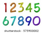 colorful collection number... | Shutterstock .eps vector #575903002