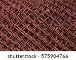 old terracotta iron net texture. | Shutterstock . vector #575904766