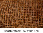 rusty grunge orange iron net... | Shutterstock . vector #575904778
