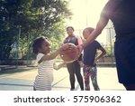 basketball sport exercise... | Shutterstock . vector #575906362