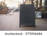 chalkboard menu sign mockup | Shutterstock . vector #575906686