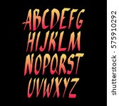 graphic font for your design.... | Shutterstock .eps vector #575910292