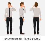 vector illustration of three... | Shutterstock .eps vector #575914252
