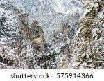 panoramic view of winter scene... | Shutterstock . vector #575914366