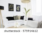 new living room with white... | Shutterstock . vector #575914612