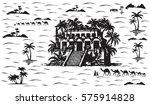 hanging gardens of babylon... | Shutterstock .eps vector #575914828