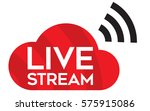 live stream icon vector logo