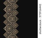 golden frame in oriental style. ... | Shutterstock .eps vector #575916442