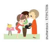 thai buddhist vector | Shutterstock .eps vector #575917036