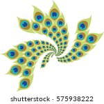 stylized peacock feathers.... | Shutterstock .eps vector #575938222