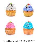 mini tasty cupcake isolated on... | Shutterstock . vector #575941702